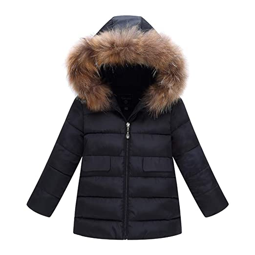 NUWFOR Outerwear Faux Hooded Womens Zipper Warm Down Parka Quilted Puffer Coat Pocket for Winter/