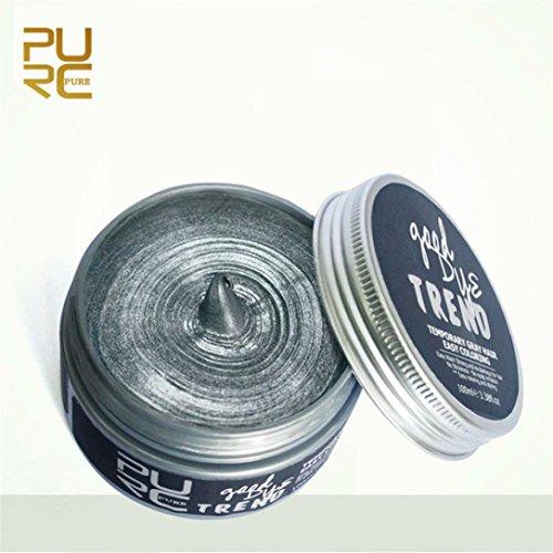 Coohole New DIY Hair Clay Wax Mud Dye Cream Grandma Hair Ash Dye Cosplay Temporary Tool (Gray)