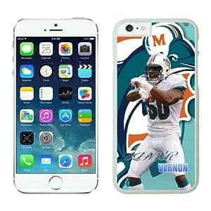 Miami Dolphins Olivier Vernon iPhone 6 Plus NFL Cases White 5.5 Inches NIC12518