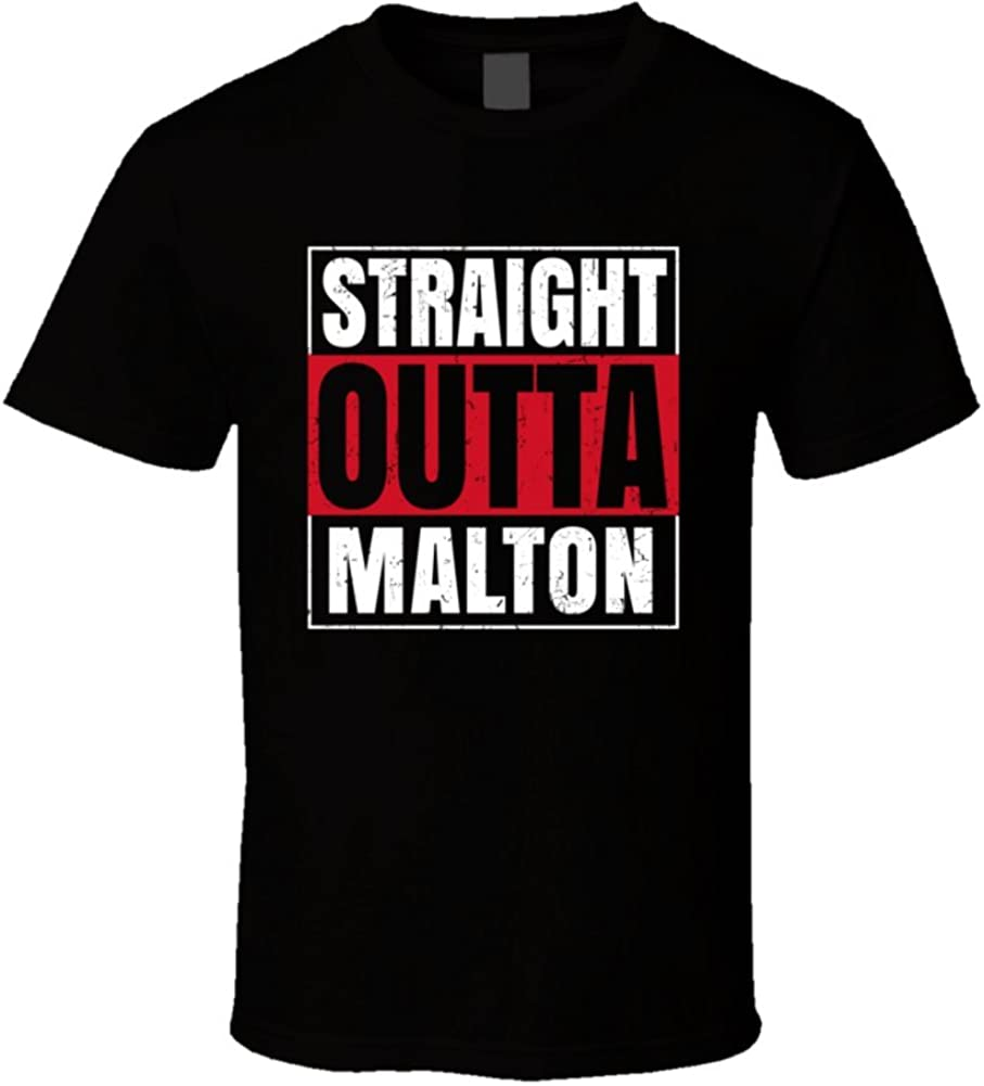 4XL Straight Outta Yorkshire T-shirt Men/'s Funny Movie Film Parody Tee Size S