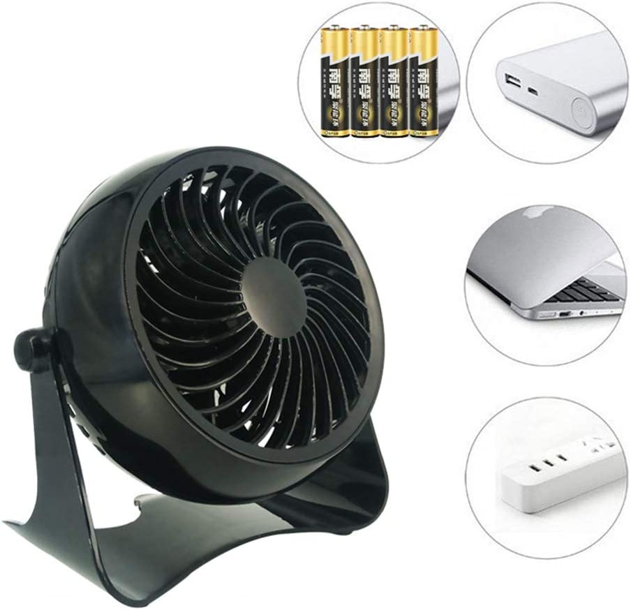 Notebook Laptop Computer Portable Super Mute PC USB Cooler Desk Fan for Office//Home//Travel//Outdoor CARWORD Small Personal USB Fan Black