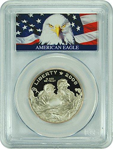 2008 S Commemorative Bald Eagle Bald Eagle Label (1/2) PR-70 PCGS DCAM