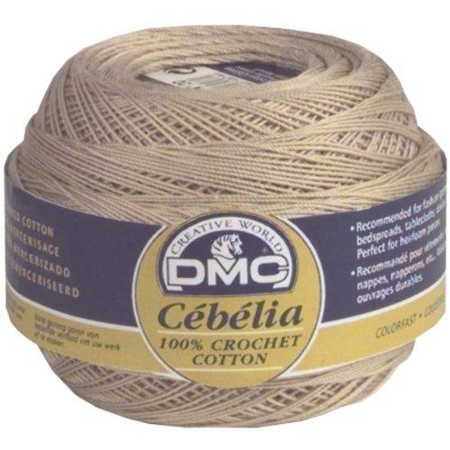 Crochet Doily Thread (DMC 167G 10-712 Cebelia Crochet Cotton, Cream, 282-Yard, Size 10)