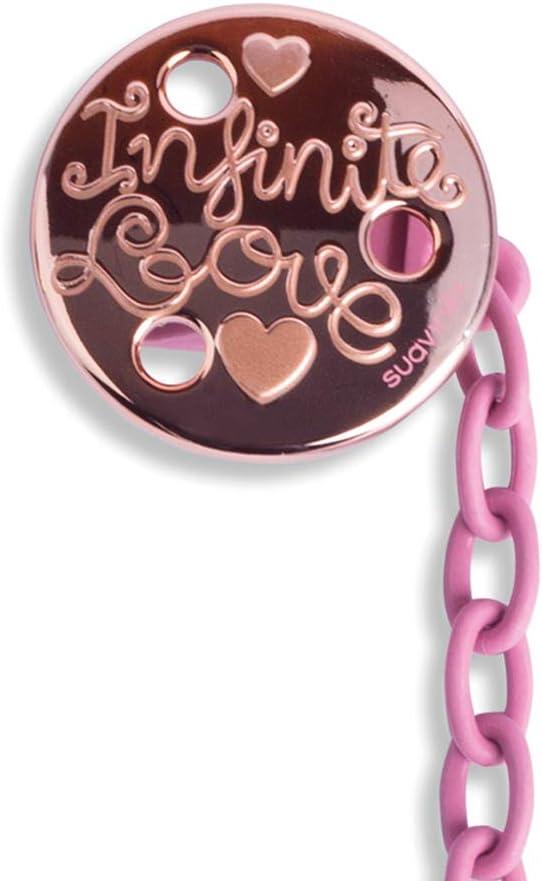 Suavinex Premium Clip redondo Love Rosa 30 g