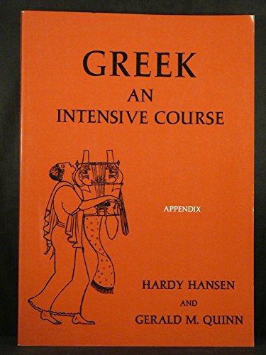 Greek and Intensive Course Appendix to the Preliminary Edition