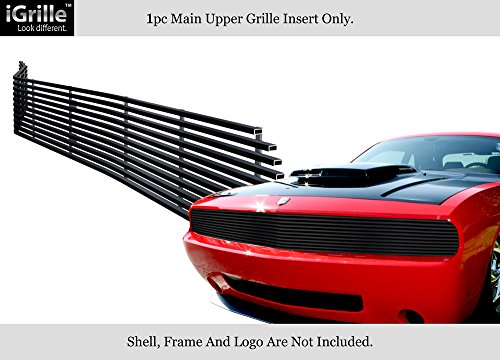 For 2009-2014 Dodge Challenger Phantom Black Stainless Steel Billet Grille #D65989J