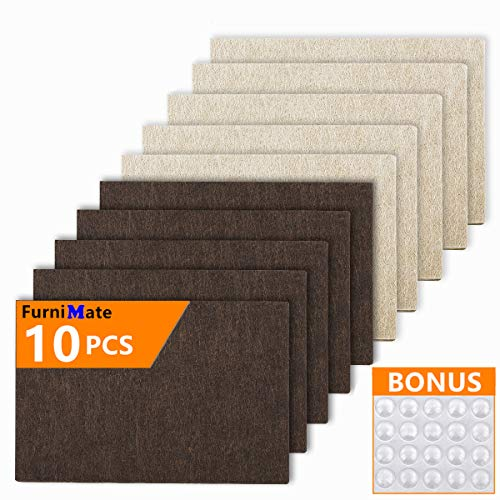 Furniture Felt Pads Sheets 10 Pieces Pack Large Felt Furniture Pads Rectangular 6