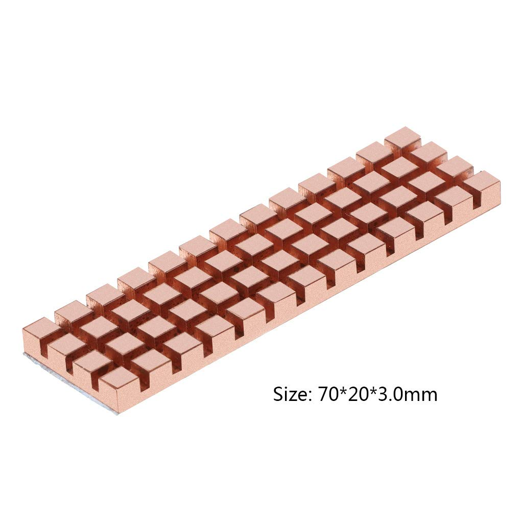 1# Or JOYKK Adh/ésif thermoconducteur pour dissipateur de Chaleur pour radiateur en cuivre Pur pour /épaisseur