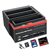 XINGDA Hard Drive Docking Station,USB 3.0 to SATA External HDD Three Bay Bock
