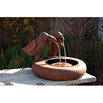 Park Hill Collections Old Crows Fountain - Spitter with Pump