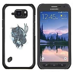 LECELL--Funda protectora / Cubierta / Piel For Samsung Galaxy S6Active Active G890A -- Mechanich Búho --