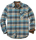 CQR Mens Flannel Long Sleeved Button-Up Plaid 100% Cotton Brushed Shirt HOF110