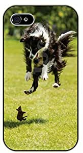 Case For Samsung Galaxy S5 Cover Case Jumping scared dblack plastic case / dog, animals, dogs