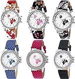 Goldenize fashion New Stylish Artist Designer Multicolour Belt Combo Watch for Girls & Women Watch - for Girls