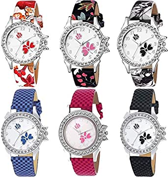 8f5372b9ffb Buy Goldenize fashion New Stylish Artist Designer Multicolour Belt Combo  Watch for Girls   Women Watch - for Girls Online at Low Prices in India -  Amazon.in