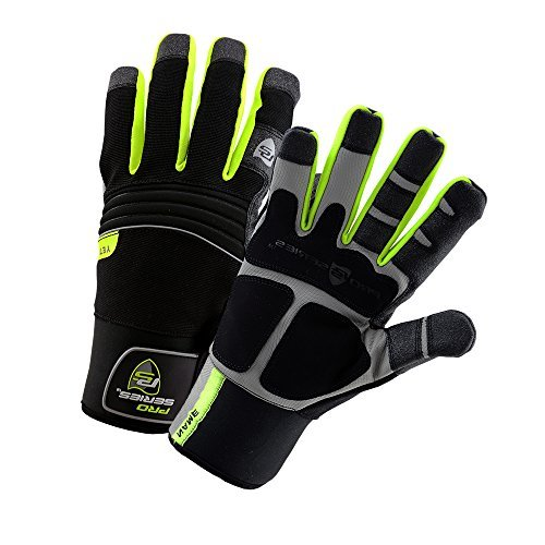 West Chester 96652 Pro Series Yeti Waterproof Winter Work Gloves: High Visibility, Large, 1 Pair