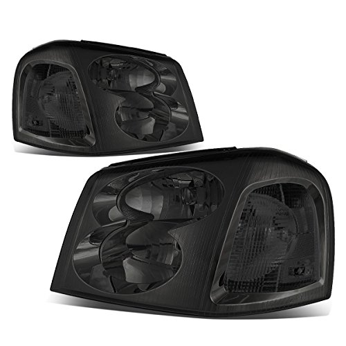 For GMC Envoy 2nd Gen XL SUV Pair of Smoked Lens Clear Corner Headlight Lamp