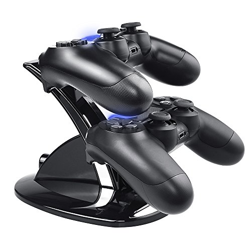 DinoFire PS4 Controller Charger, Dual Shock 4 Controller Charger PlayStation 4 USB Charging Station, PS4 Charging Dock for Sony PS4 / PS4 Slim / PS4 Pro Controller