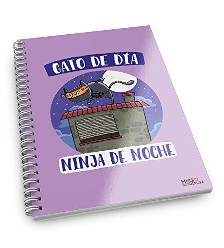 Missborderlike - Cuaderno anillas -Gato de día, Ninja de ...