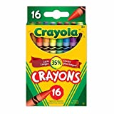 Crayola 16 Crayons, School and Craft Supplies, Gift for Boys and Girls, Kids, Ages 3,4, 5, 6 and Up, Back to school, School supplies, Arts and Crafts,  Gifting