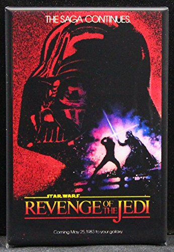 (Revenge of the Jedi Movie Poster Refrigerator Magnet. Star Wars)