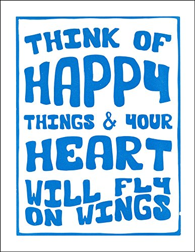 Peter Pan Inspired Typography Art Print Letterpress Poster Blue,
