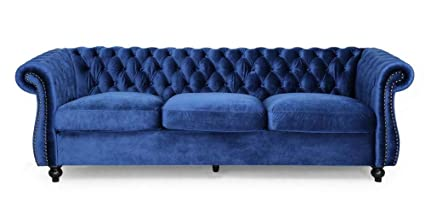 Amazon.com: Noble House Somerville Chesterfield Tufted Sofa ...