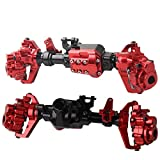 USHOT CNC Machined Aluminum Front Rear Portal Axles Housing For Traxxas TRX-4 Crawler Red One Size