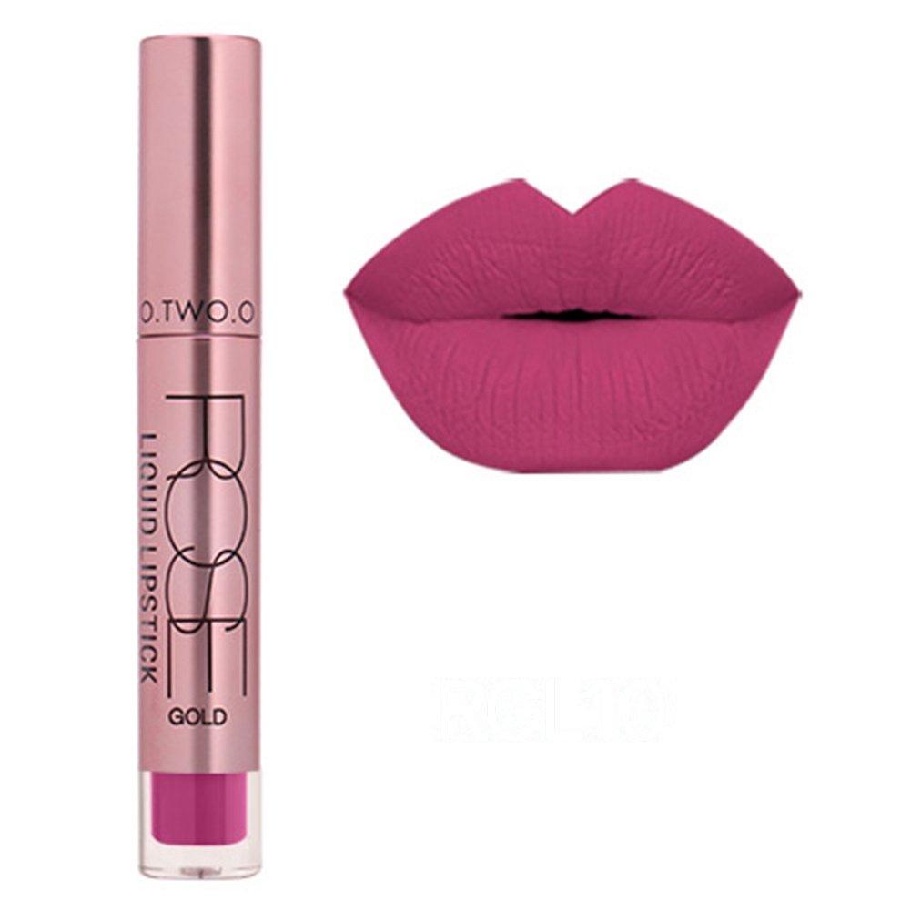 ROMANTIC BEAR Professional Liquid Lippenstift matt Wasserfest und Langanhaltend Effect, Elegant Makeup Lipgloss 12 Farben