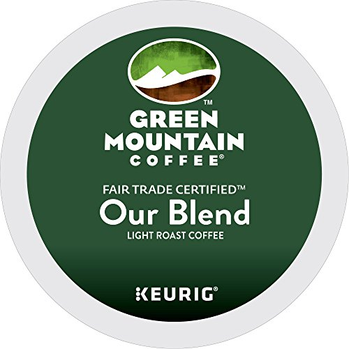 Green Mountain Coffee Roasters Our Blend Keurig Single-Serve K-Cup Pods, Light Roast Coffee, 72 Count (6 Boxes of 12 Pods) (Roast Fair Trade Classic)