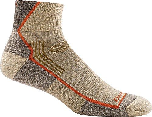 Darn Tough Coolmax 1/4 Sock - Darn Tough Hiker 1/4 Cushion Sock - Men's Oatmeal Large