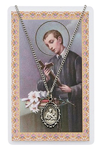 St Gerard Necklace (Adult Oval St Gerard Pewter Medal Necklace, 18