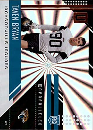 2018 Unparalleled Football Shine  289 Taven Bryan Jacksonville Jaguars  Rookie RC Rookie NFL Trading Card de89fc586