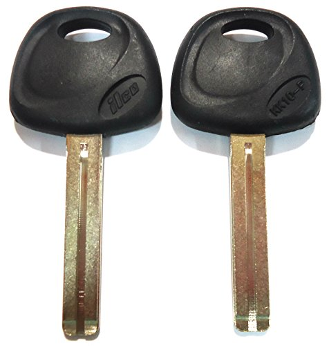2 Replacement Non-transponder Uncut Blade Key Blank Fit Hyundai Kia - Usa Made
