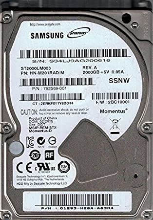 Samsung st2000lm003 hn-m201rad/M 2 TB F/W: 2bc10001 dgt Seagate ...