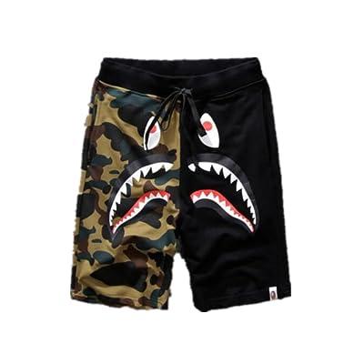 A Bathing Ape Japan Men/'s Bape Shark Jaw Shorts Pants Camo Print Color Pants new