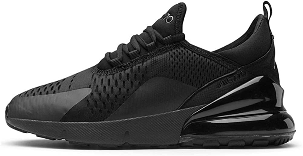 Scarpe da Ginnastica Uomo Donna Sportivo Air Corsa Sneakers Casual Interior all'Aperto 36-46EU Nero A