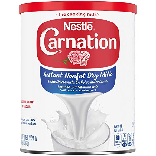 Carnation Instant Non Fat Dry Milk, 22.75 Ounce Can Powdered Milk (Shelf Stable Milk)