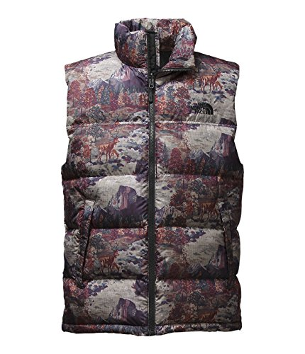 The North Face Men's Nuptse Vest Black Yosemite Print Size Medium (Face Print Vest The North)
