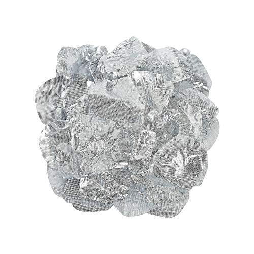 Fun Express - Silver Rose Petals (200pc) for Wedding - Party Decor - General Decor - Confetti - Wedding - 200 Pieces