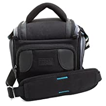 USA Gear Durable Action DSLR Camera Case Bag w/ Adjustable Padded Interior Lining - Works with Nikon DF , D7100 , D5300 , D3300 , D610 , P600 , P530 and Many More!
