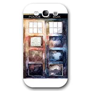 UniqueBox - Customized White Frosted Samsung Galaxy S3 Case, Doctor Who Tardis Blue Police Call Box Samsung S3 case, Only fit Samsung Galaxy S3 WANGJING JINDA
