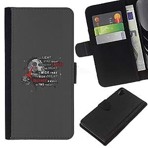 Stuss Case / Funda Carcasa PU de Cuero - Estrella de la Muerte - Sony Xperia Z2 D6502