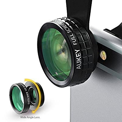 Aukey Clip-on Cell Phone Camera Lens Kit
