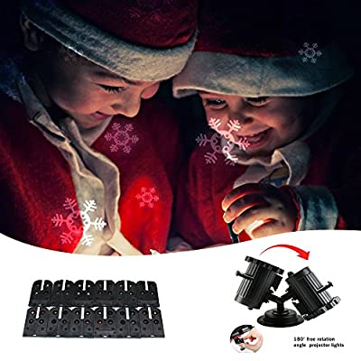 Blika Christmas LED Light Projector - Newest Version Waterproof with 16 Interchangeable Moving Projection Slides, Remote Control LED Light Projector for Christmas Halloween Birthday Wedding