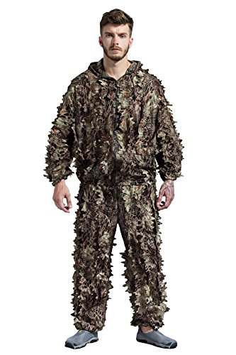 SUNRIS Camouflage Ghillie Suits for Hunting Shooting Airsoft -