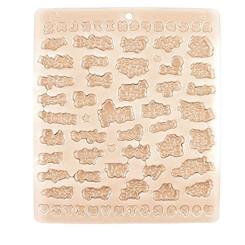 Price per 10 Pieces Chocolate Molds Baby Shower GN6J4 Letters Fondant Easter Egg Jelly Candy Baking by Chocolate Molds