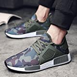 Men Outdoors Shoes,Hemlock Men's Athletic Shoes Casual Sneakers Running Breathable Sports Shoes (US:8.5, Green)