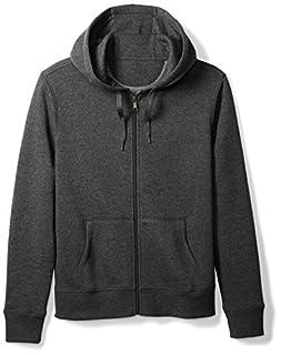 Amazon Essentials Men's Full-Zip Hooded Fleece Sweatshirt, Charcoal Heather, Medium (B075JWGJ4R) | Amazon price tracker / tracking, Amazon price history charts, Amazon price watches, Amazon price drop alerts