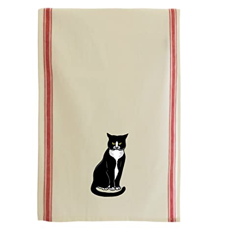 Amazon.com: Tuxedo Cat Algodón Retro Plato Cocina toalla a ...